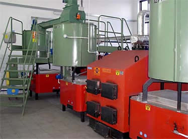 Goliath Biomass Boiler System with dual combustion units.